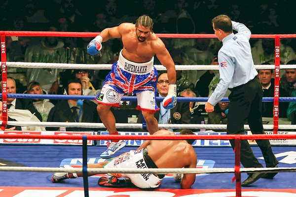 David Haye knocks out Dereck Chisora 2012