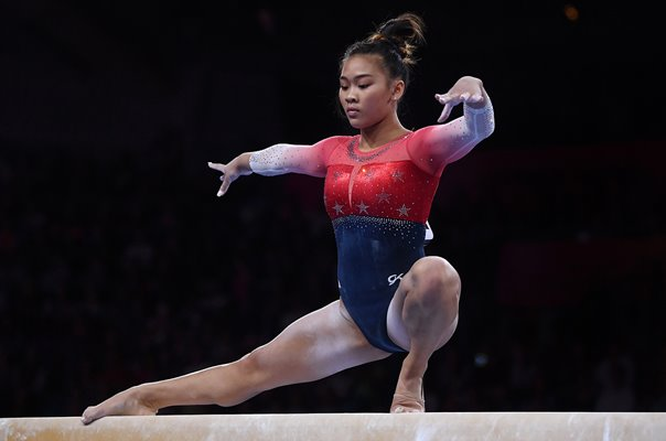 Sunisa Lee USA Beam World Gymnastics Stuttgart 2019