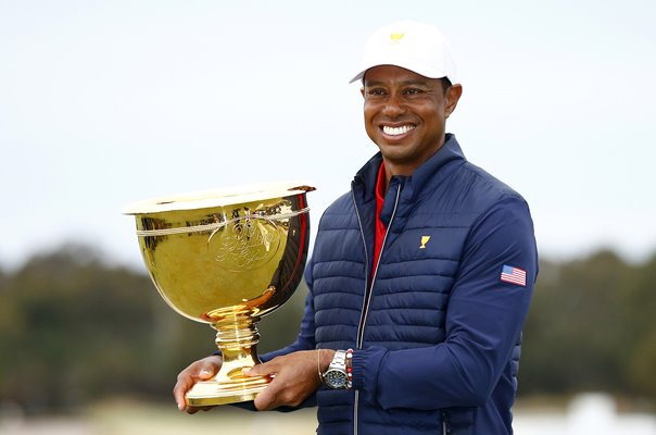 Tiger Woods USA Winning Captain Presidents Cup Melbourne 2019