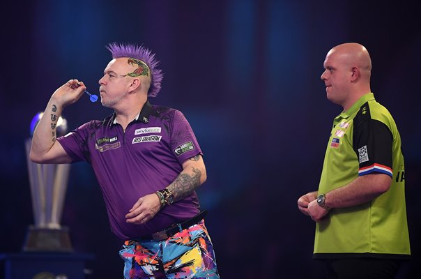 Peter Wright Scotland v Micheal Van Gerwen World Darts 2020