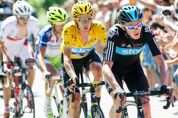 Froome, Wiggins & Nibali Stage 16 Tour 2012