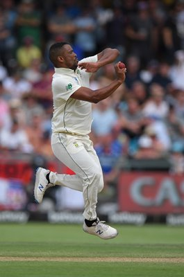 Vernon Philander South Africa bowls v England Cape Town Test 2020