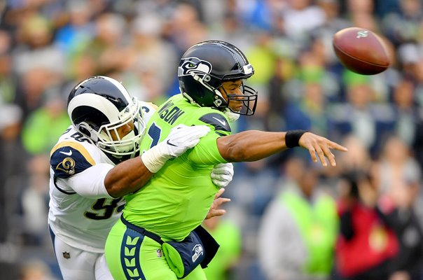 Aaron Donald Los Angles Rams v Russell Wilson Seahawks 2019