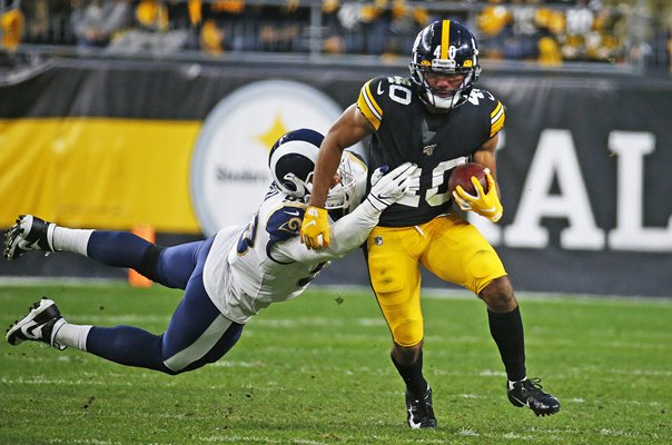 Aaron Donald Rams tackles Tony Brooks-James Pittsburgh Steelers 2019