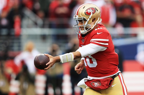 Jimmy Garoppolo San Francisco 49ers v Packers NFC Championship 2020