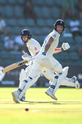 Ollie Pope & Ben Stokes England 200 partnership 3rd Test v South Africa 2020