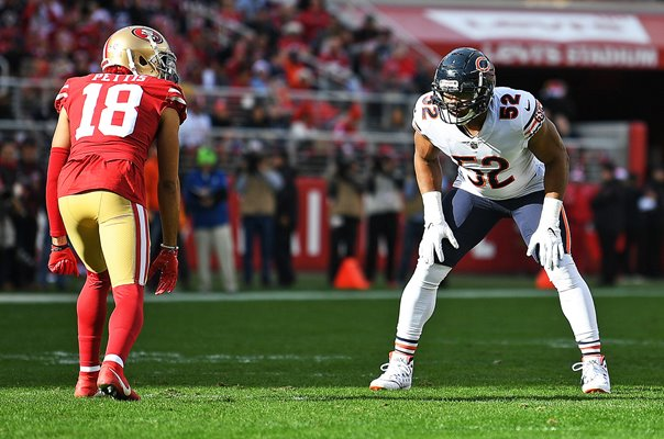 Khalil Mack Chicago Bears v Dante Pettis San Francisco 49ers 2018