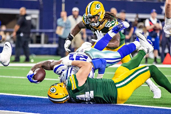 Ezekiel Elliot Dallas Cowboys Touchdown v Dean Lowry Green Bay 2019