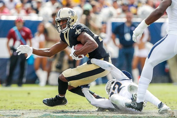 Michael Thomas New Orleans Saints v Eric Weddle Los Angeles Rams 2019