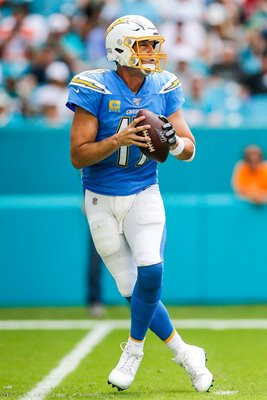 Philip Rivers Los Angeles Chargers quarterback v Miami Dolphins 2019