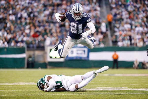 Ezekiel Elliott Dallas Cowboys Running Back v New York Jets 2019