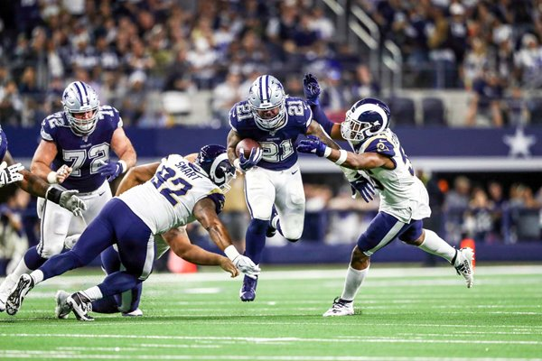 Ezekiel Elliott Dallas Cowboys Running Back v Los Angeles Rams 2019