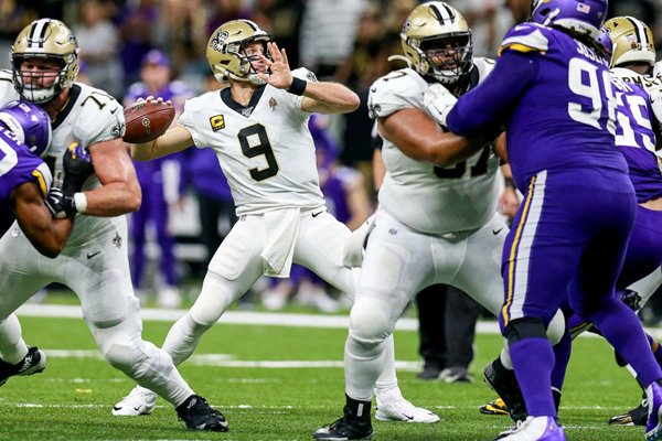 Drew Brees New Orleans Saints NFC Wild Card Game 2020