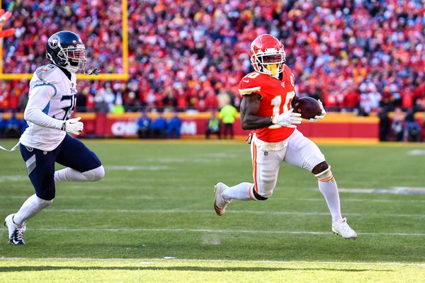 Tyreek Hill Kansas City Chiefs Touchdown AFC Championship Game 2020