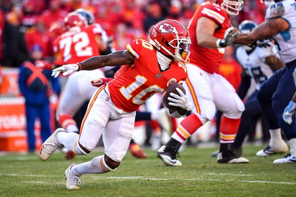 Tyreek Hill Kansas City Chiefs AFC Championship Game 2020