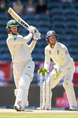 Rassie van der Dussen South Africa v Jos Buttler England 4th Test 2020