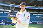 Joe Root England captain Test Series trophy v South Africa 2020 Prints