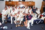 England celebrate Test Series win v South Africa Johannesburg 2020 Prints