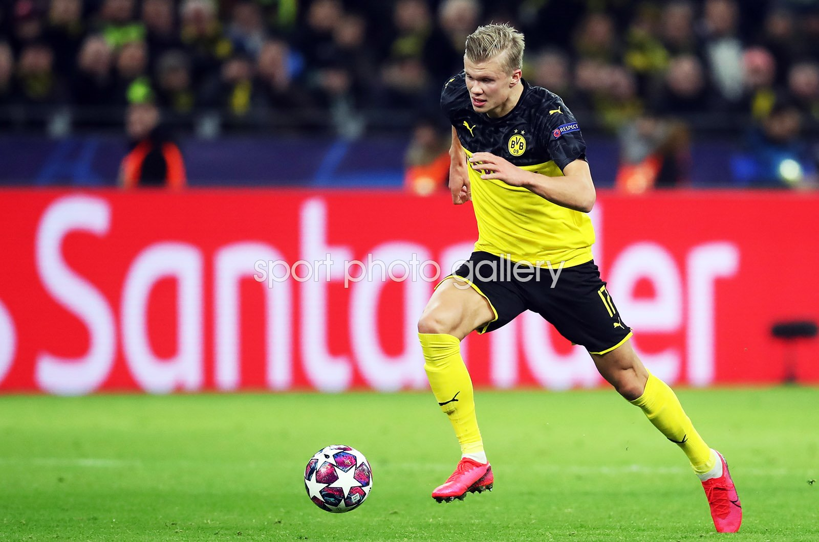 Erling Haaland Dortmund v Paris Saint-Germain Champions League 2020