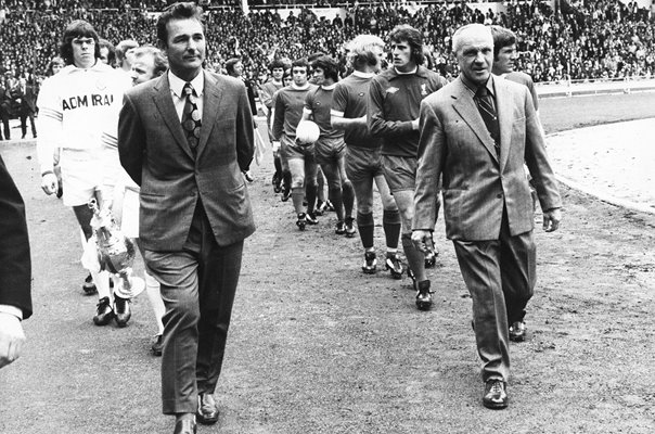Brian Clough & Bill Shankly Charity Shield Wembley 1974