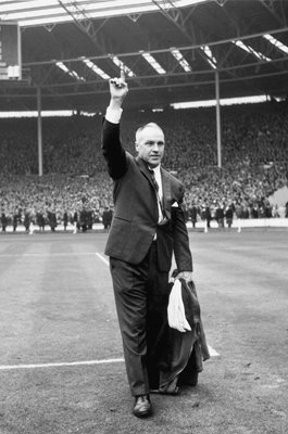 Bill Shankly Liverpool Manager FA Cup win v Leeds Wembley 1965