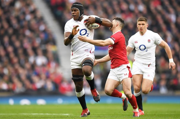Maro Itoje England v Tomos Williams Wales Twickenham 6 Nations 2020