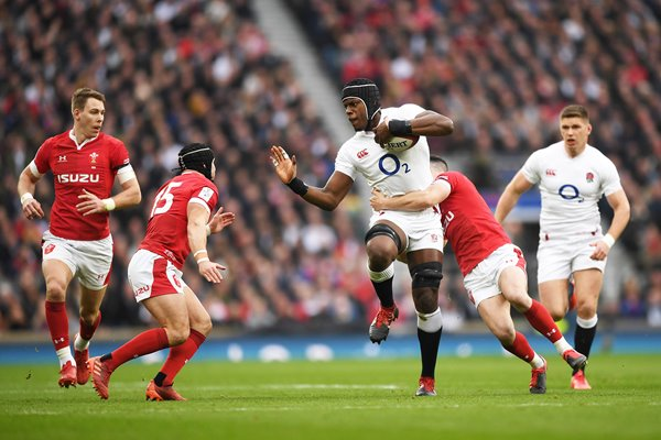 Maro Itoje England attacks v Wales Twickenham Six Nations 2020