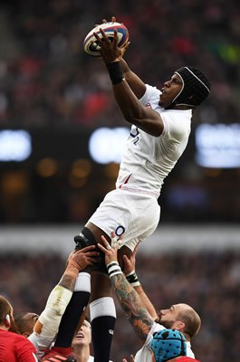 Maro Itoje England Line Out v Wales Six Nations 2020
