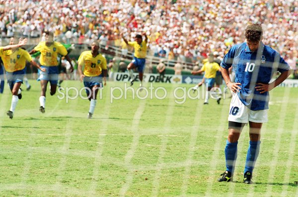 Roberto Baggio Despair Brazil Euphoria World Cup 1994
