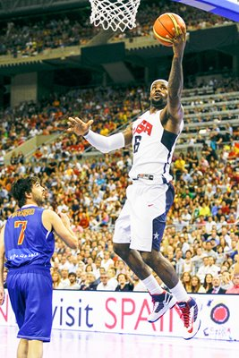 LeBron James & Juan Carlos Navarro - USA v Spain 2012