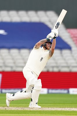 Ben Stokes England charges v West Indies Old Trafford 2020