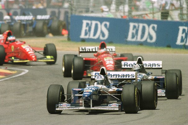 David Coulthard Willians Renault leads Australian GP 1995