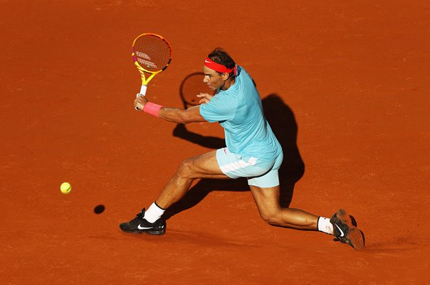 Rafael Nadal Spain French Open Backhand Paris 2020