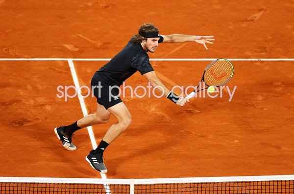 Stefanos Tsitsipas Greece French Open Backhand Volley 2020