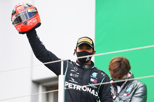 Lewis Hamilton joins Michael Schumacher on 91 Grand Prix wins