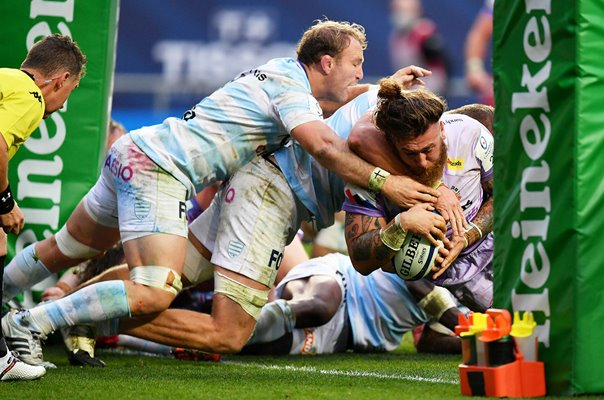 Harry Williams Exeter Chiefs scores Champions Cup Final 2020