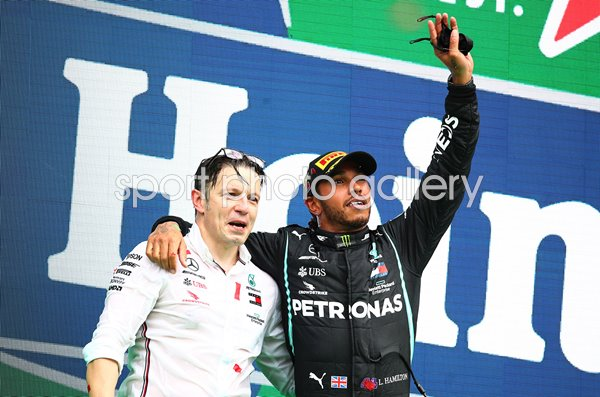 Lewis Hamilton & Peter Bonnington Great Britain & Mercedes Portugal GP 2020