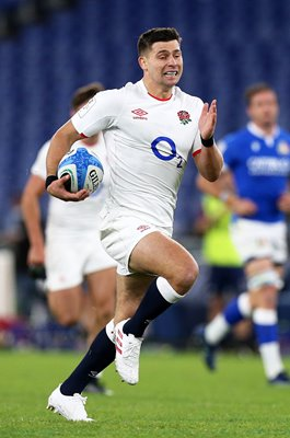 Ben Youngs scores try in 100th England Game 6 Nations Rome 2020