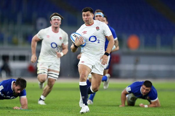 Ben Youngs scores in 100th Game Six Nations Rome 2020