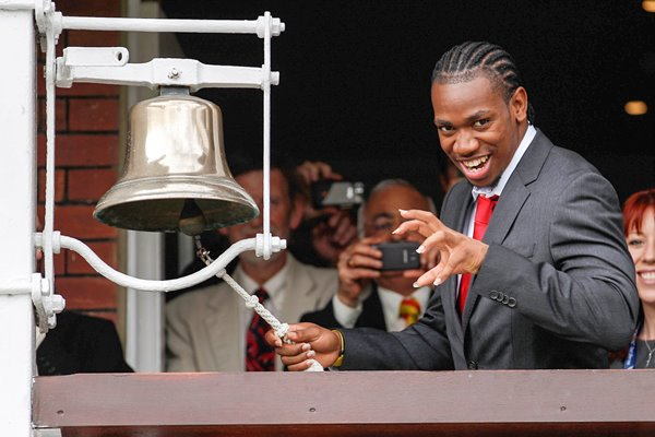 Yohan Blake rings the bell Lord's 2012
