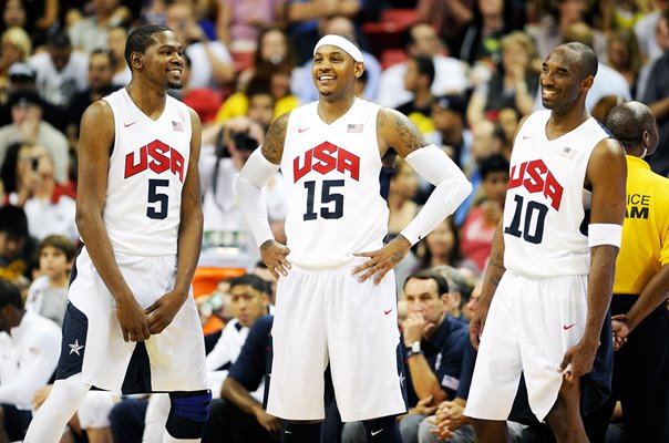 Kevin Durant, Carmelo Anthony and Kobe Bryant USA 2012