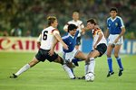 Diego Maradona Argentina v West Germany World Cup Final 1990 Prints