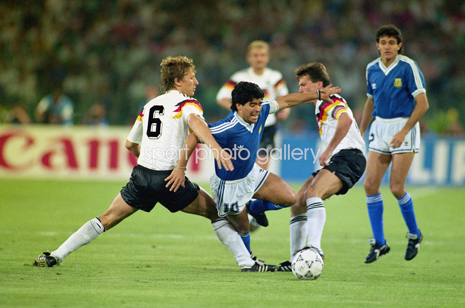 Diego Maradona Argentina v West Germany World Cup Final 1990