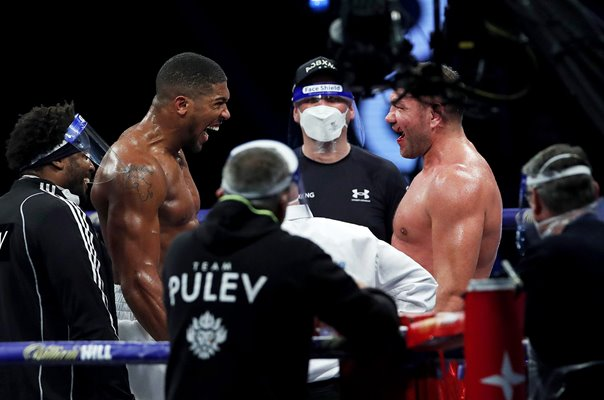 Warriors Anthony Joshua v Kubrat Pulev Wembley Arena 2020