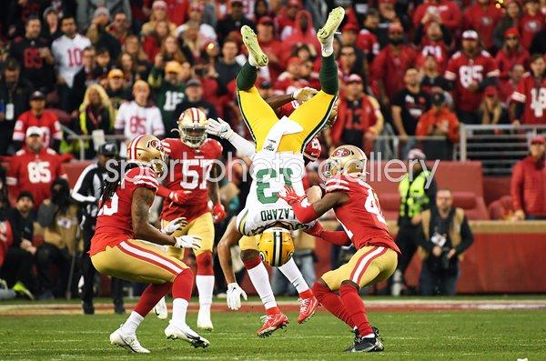 Allen Lazard Green Bay V Emmanuel Moseley 49ers Nfc Championship 2020 Images American Football Posters