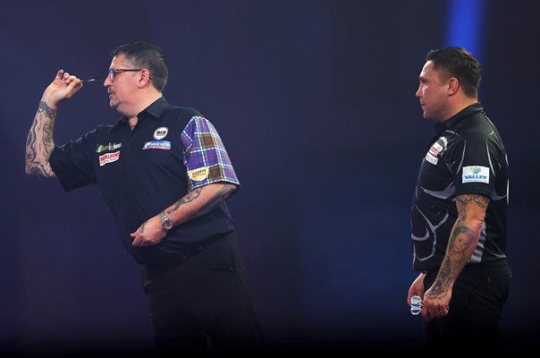 Gerwyn Price Wales v Gary Anderson Scotland PDC World Darts Final 2021