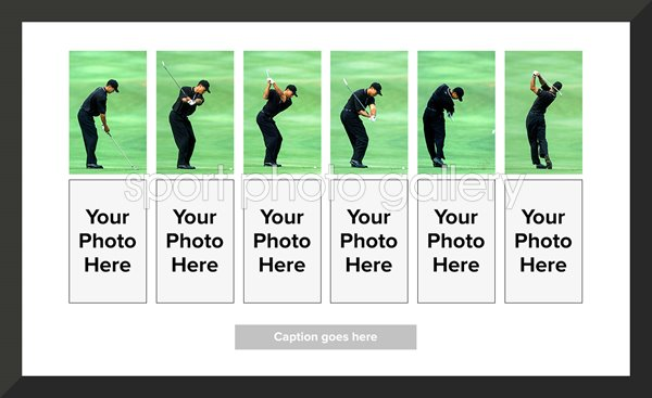Tiger Woods Golf Swing Comparison Collage