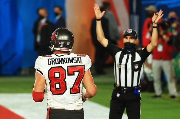 Rob Gronkowski Tampa Bay Buccaneers Touchdown Super Bowl 2021