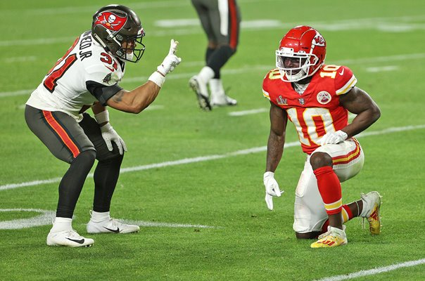 Antoine Winfield Jr. Tampa Bay taunts Tyreek Hill Super Bowl 2021