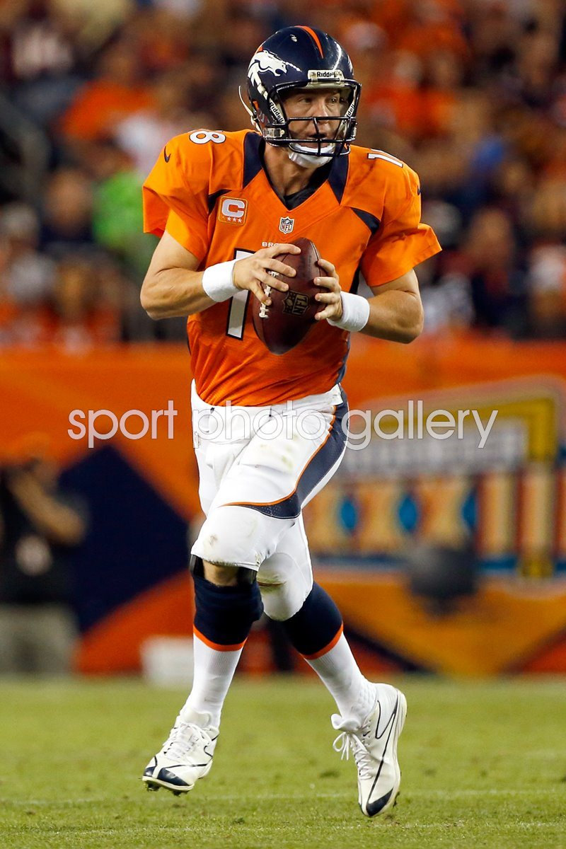 Peyton Manning Quarterback Denver Broncos 2014 Playoffs